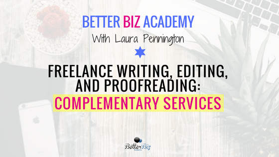 Freelance editing and writing services